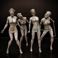 Download free STL file Silent Hill - Nurse • 3D printing model, mag-net