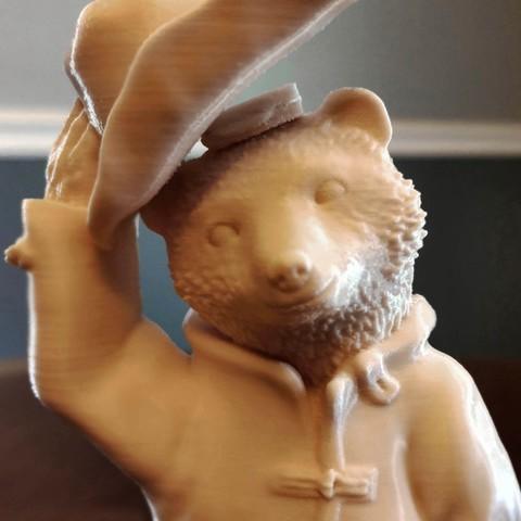 Imprimir en 3D gratis Paddington Bear, mag-net