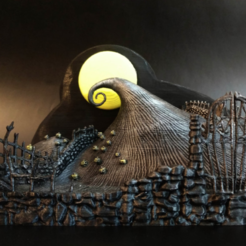 Capture d'écran 2017-12-26 à 13.11.19.png Download free STL file The Nightmare Before Christmas - Diorama • Object to 3D print, mag-net