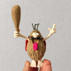 Free 3D printer model Captain Caveman!!!!!!!, mag-net