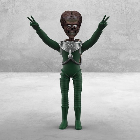 Free 3D printer files Mars Attacks - Alien, mag-net
