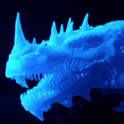 Download free 3D printing files Dragonology II - Head HD, mag-net