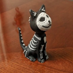 Free 3D printer model Sugar Cat, mag-net