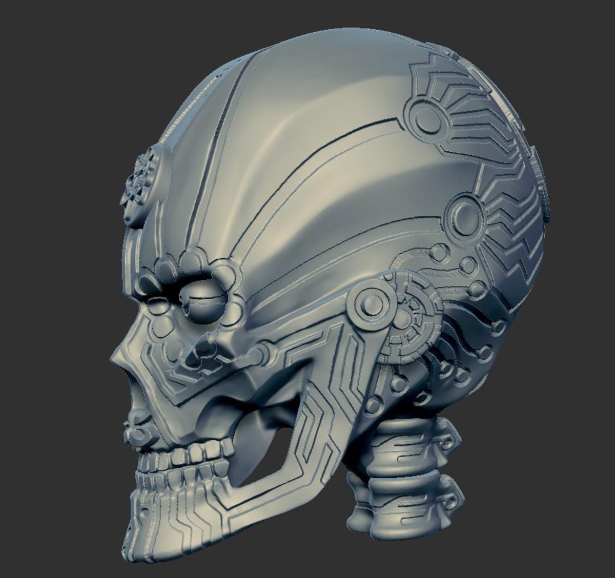 Capture d'écran 2017-09-18 à 10.51.56.png Télécharger fichier STL gratuit Aspartame Skull • Plan pour imprimante 3D, mag-net