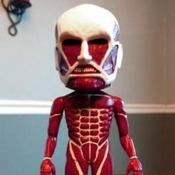 Imprimir en 3D gratis Ataque a Titán - Bobblehead, mag-net