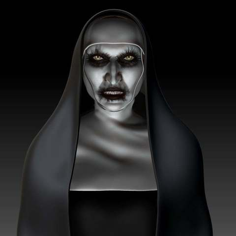 Download free 3D printing templates The Nun, mag-net