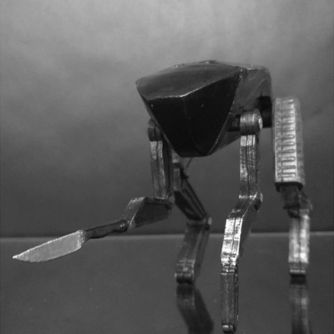 Free stl Black Mirror - Metalhead - Dog, mag-net