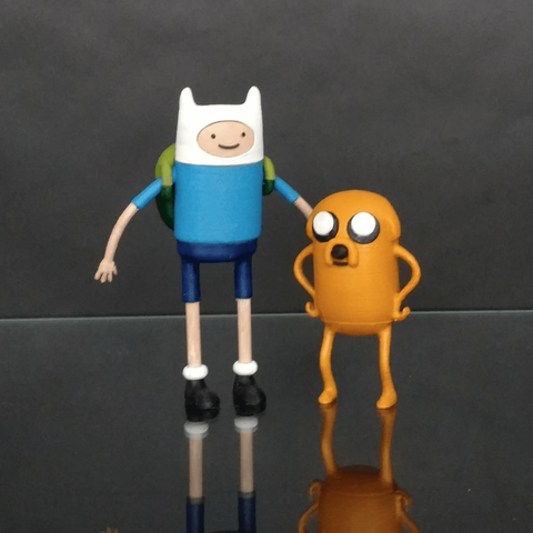 Free stl files Adventure Time - Finn and Jake, mag-net