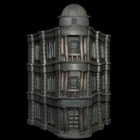 Download free 3D printing templates Gringotts Bank - Harry Potter, mag-net