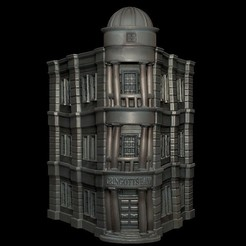 Free 3D print files Gringotts Bank - Harry Potter, mag-net