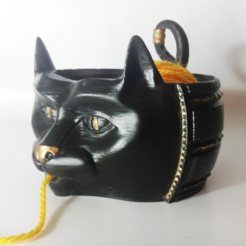 Download free 3D printing templates Cat Yarn Bowl, mag-net