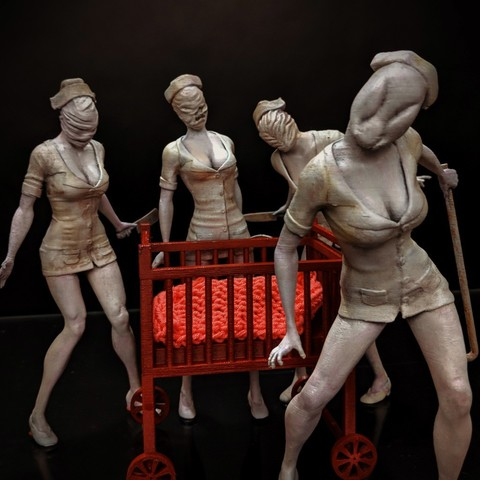 d6c8fb5d743cce24641f2d010c7ca384_display_large.jpg Download free STL file Silent Hill - Nurse • 3D printing model, mag-net