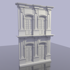 Download STL file Neoclassical Facade • Design to 3D print, hermesalvarado