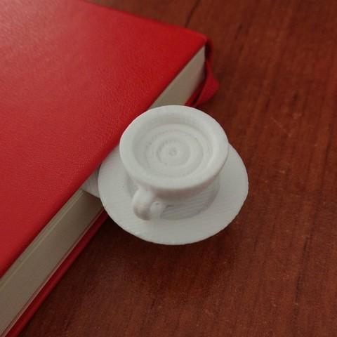 Download STL file Coffee cup book separator • 3D printing template, hermesalvarado