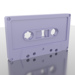 Download STL file Vintage Retro Classic Audio Cassette Tape • 3D printable design, hermesalvarado
