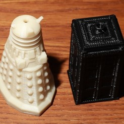 Free STL Dr Who salt shakers, RevK