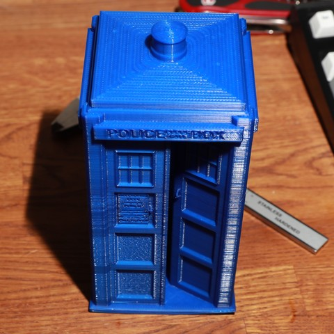 Free 3d printer model Large TARDIS, RevK