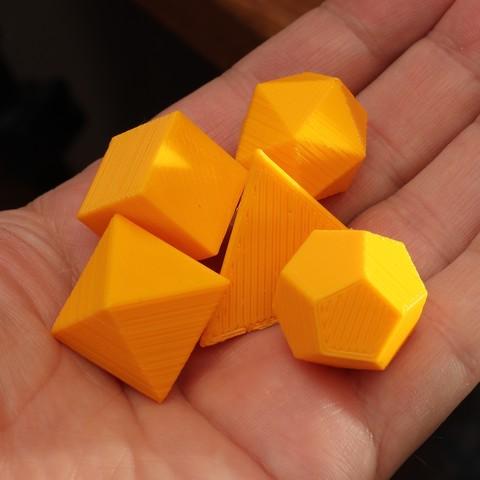 Download free STL files Handful of Platonic solids, RevK