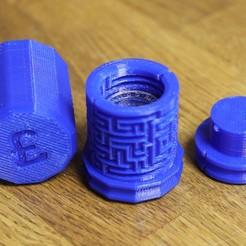 Descargar Modelos 3D para imprimir gratis Caja de regalo para monedas de una libra, RevK