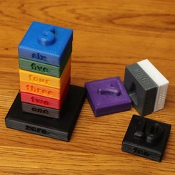 Free 3D printer designs Mental blocks, RevK