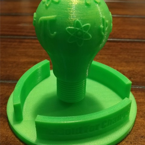 Free International Women's Day STEM Light Bulb 3D printer file, AbuzzDesigns