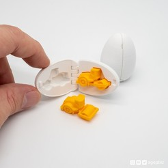 steamroller_surpriseegg_instagram_01.jpg Download free STL file Surprise Egg #12 - Tiny Steamroller • 3D printing object, agepbiz