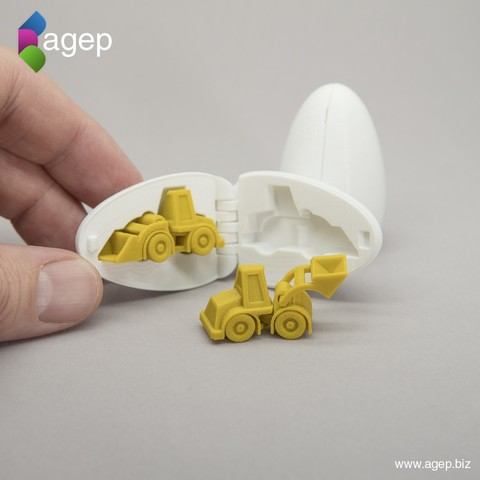 modelo stl gratis Surprise Egg #3 - Cargador de ruedas pequeño, agepbiz
