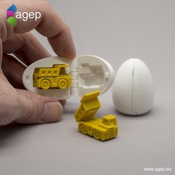 Download free 3D print files Surprise Egg #1 - Tiny Haul Truck, agepbiz