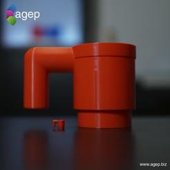 Free Human Sized LEGO Mug 3D model, agepbiz