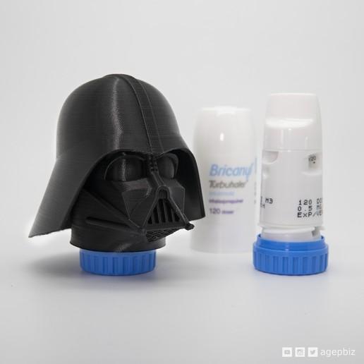 Descargar archivos STL gratis Inhalador Darth - Inhalador personalizado para el asma - Darth Vader, agepbiz
