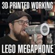 Download free STL files Human Scale Working LEGO Megaphone, agepbiz