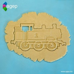 Free 3d print files Detailed Thomas the Tank Engine Cookie Cutter, agepbiz