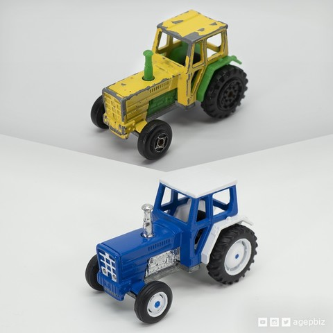 Download free STL Detailed Tractor Wheels - Diecast Toy Restoration, agepbiz