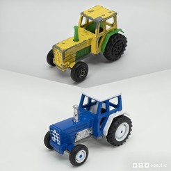 Free STL files Detailed Tractor Wheels - Diecast Toy Restoration, agepbiz