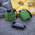 Download free 3D print files Lighter Case - Hand Grenade Shaped, agepbiz
