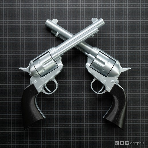 Download free 3D printer templates Cattleman Revolver - Colt Model 1873 Single Action Army Revolver, agepbiz