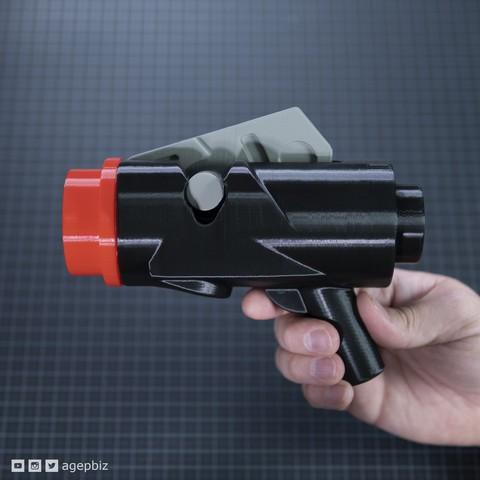 Free 3D printer model Human Scale LEGO Stud Launcher, agepbiz