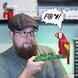 Free STL Human Scale Working LEGO Parrot, agepbiz