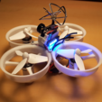 Download free 3D printing templates Tiny Whoop 68mm polycarbonate cross fashion, Microdure