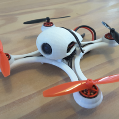 Free 3D printer model Mini Quadcopter fpv Racer 120mm micro FC lumenier racing F4 Brushless 1103 10.000kv 2S, Microdure
