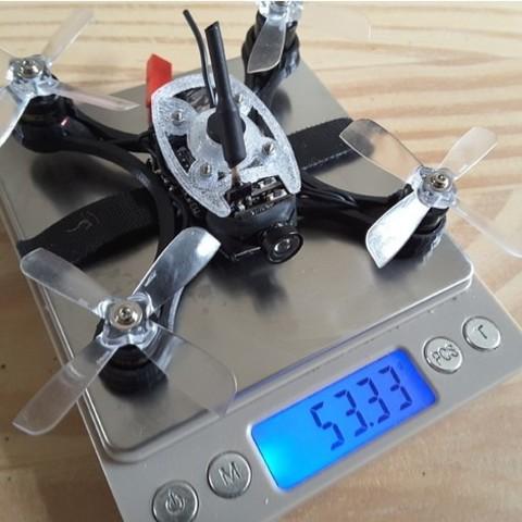 f93e11613f04c0c05dbe874e01bcf92b_preview_featured.jpg Download free STL file Mini Quad Racer 100mm Brushless GemFan 0806 6200kv 2S • 3D printer model, Microdure