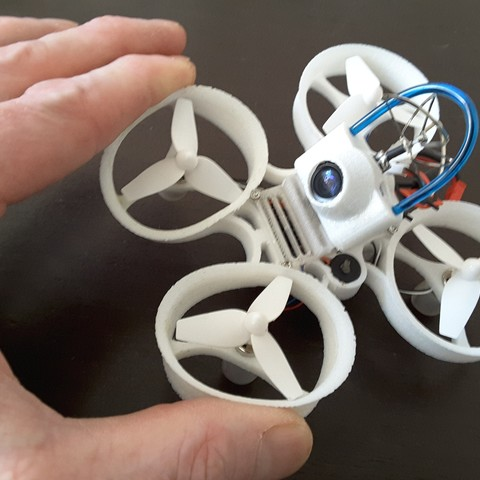 20170312_145216.jpg Download free STL file Indestructible Tiny Whoop TPU 90mm 2S • 3D printable model, Microdure