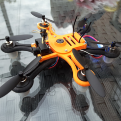 Free STL file Hexacopter 1S / 2S 125 / 110mm spracing f3 coreless 8.5x20mm, Microdure