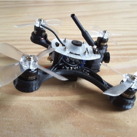 44702c3bf1dc03910601fb25fb08a846_preview_featured.jpg Download free STL file Mini Quad Racer 100mm Brushless GemFan 0806 6200kv 2S • 3D printer model, Microdure