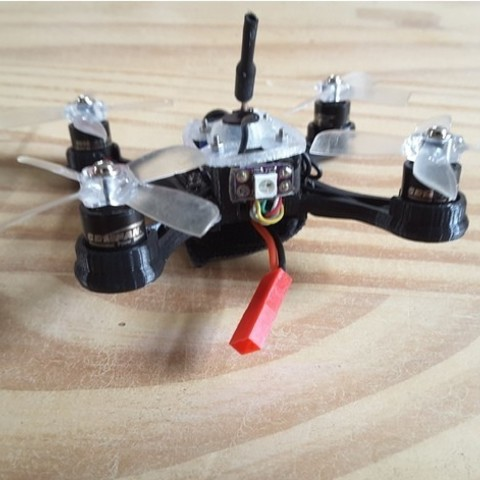 cae1da49a095d6e3c860df5739597572_preview_featured.jpg Download free STL file Mini Quad Racer 100mm Brushless GemFan 0806 6200kv 2S • 3D printer model, Microdure