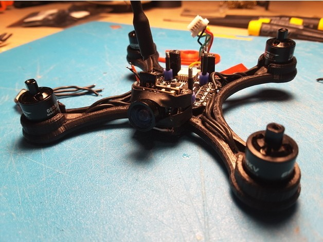 2f940aeb99a31164ee6e58b022aef5c2_preview_featured.jpg Download free STL file Mini Quad Racer 100mm Brushless GemFan 0806 6200kv 2S • 3D printer model, Microdure
