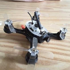 STL gratis Mini Quad Racer 100mm Brushless GemFan 0806 6200kv 2S, Microdure
