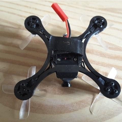 fadd53db89fc463cf0cb2d9b04bc2f30_preview_featured.jpg Download free STL file Mini Quad Racer 100mm Brushless GemFan 0806 6200kv 2S • 3D printer model, Microdure