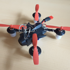 Free 3D print files Micro FPV Quad-racer 2S 90mm polycarbonate, Microdure