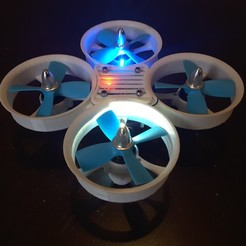 20170222_095807.jpg Download free STL file Whoop Drone Cross 4S Night Flight Acro • Object to 3D print, Microdure